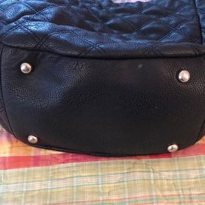 BeBe black quilted tote style purse